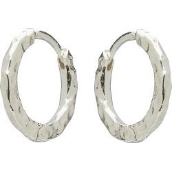 Sami Textured Silver Hoop Earrings found on Bargain Bro UK from Oliver Bonas Ltd
