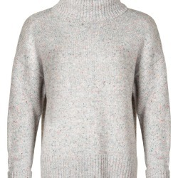 Nepped Grey High Neck Knitted Jumper found on Bargain Bro UK from Oliver Bonas Ltd