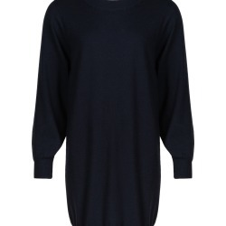 Contact Navy Blue Knitted Jumper Dress found on Bargain Bro UK from Oliver Bonas Ltd
