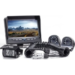 Rear View Camera System - Three Backup and Side Camera System with Quick Connect/Disconnect Kit