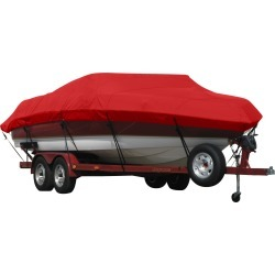 Exact Fit Covermate Sunbrella Boat Cover for Lowe 180 Stinger 180 Stinger W/Port Mtr Guide Troll Mtr O/B. Jockey Red found on Bargain Bro India from Overton's for $540.99