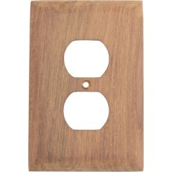 Whitecap Teak Teak Outlet Cover, Receptacle Plate found on Bargain Bro Philippines from Overton's for $14.24