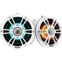 "FUSION 7.7"" Wake Tower Speakers w/CRGBW LED Lighting - White"