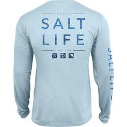Salt Life Men's Water Icons SLX UVapor Pocket Long-Sleeve Tee