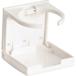 Collapsible Plastic Drink Holder, White