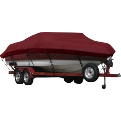 Exact Fit Covermate Sunbrella Boat Cover for Shockwave 28' Deck Boat 28' Deckboat I/O. Burgundy found on Bargain Bro India from Overton's for $852.99