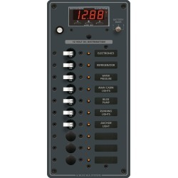 Blue Sea 12/24V DC Branch Circuit Breaker Panel: 10 Position, Digital Multimeter