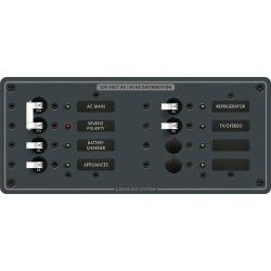 Blue Sea 230V AC Main + 6 Position Circuit Breaker Panel, Model 8512