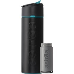 Astrea ONE 20-oz. Vacuum-Insulated Filtering Water Bottle, Black/Blue