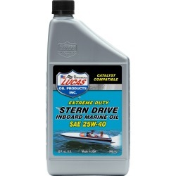 Lucas Oil SAE 25W-40 Sterndrive Inboard Engine Oil, 5 Quarts