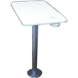 EEz-In Polymer Table With Stowable Pedestal