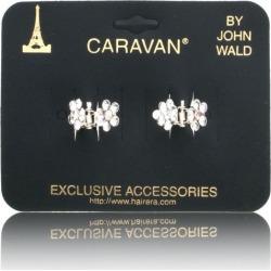 Caravan Mini Stone Clips Black Pair