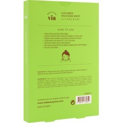 Via Beauty Care Cucumber Face Mask Sheet Moisturizing