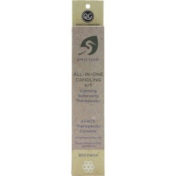 White Egret Personal Care Beeswax Candle