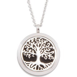 Aromatherapy Diffuser Locket - Tree of Life Silver