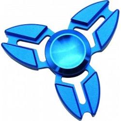 Metal Ox Horn Tri Spinner Anti-Stress Fidget Toy - Blue