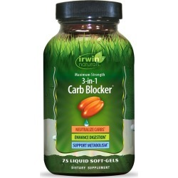 Irwin Naturals Dietary Supplement Soft-Gels, 3 in 1 Carb Blocker - 75 ct