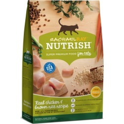 Rachael Ray Nutrish Natural Dry Cat Food, Chicken & Brown Rice Recipe - 3 lbs