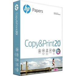 HP Printer Paper, Copy and Print20, 8.5 x 11, Letter, 20lb, 92 Bright, 400 Sheets / 1 Ream (200010R) found on Bargain Bro India from Rite Aid for $5.39