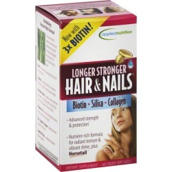 Applied Nutrition Hair & Nails Softgels, Longer & Stronger - 60 ct