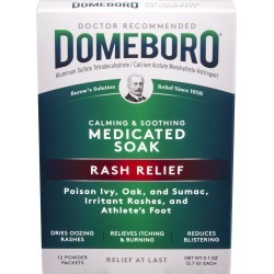 Domeboro Rash Relief Medicated Soak, Calming & Soothing, Powder Packets - 12 ct