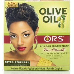 ORS Olive Oil New Growth No Lye Hair Relaxer Kit, Extra Strength