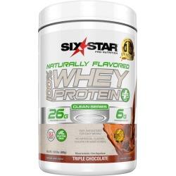 Six Star 100% Whey Protein Powder + BCAA, Triple Chocolate - 24 oz