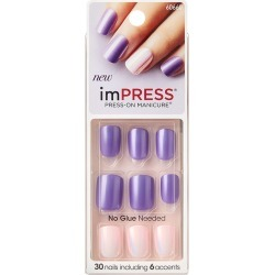 Broadway Impress Nails, Bright as a Feather - 30 ct
