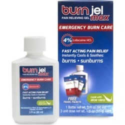 BurnJel Max, Pain Relieving Gel + 3 Free Travel Packets - 3 fl oz