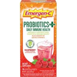 Emergen-C Probiotics+ Dietary Supplement Fizzy Drink Mix, Raspberry - 14 ct
