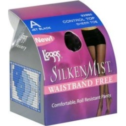 Leggs Pantyhose, Size A, Jet Black, Control Top, Sheer Toe - 1 pair