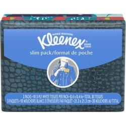 Kleenex Slim Wallet Facial Tissues, 10 tissue/pack - 3 ct
