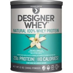 Designer Whey Protein Powder, French Vanilla - 12 oz