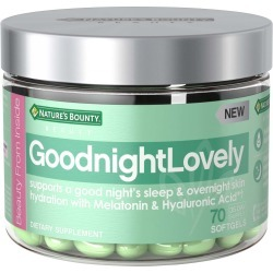 Nature's Bounty GoodnightLovely Vitamins with Melatonin & Hyaluronic Acid, Supports Skin Hydration & Good Sleep - 70 ct