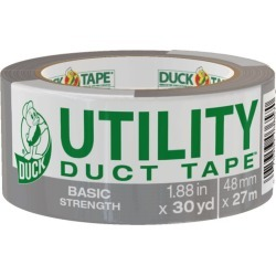 Utility Duck Tape Brand Duct Tape, Silver, 1.88 in x 30 yd
