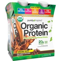 Purely Inspired Organic Protein Shake, Ready to Drink, Decadent Chocolate - 4 pk