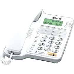AT&T Big Button Corded Caller ID Phone, White