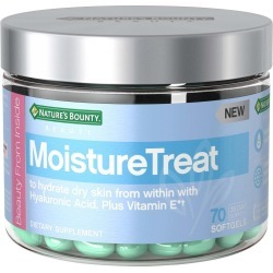 Nature's Bounty MoistureTreat Vitamins with Hyaluronic Acid + Vitamin E, Skin Care Relief - 70 ct