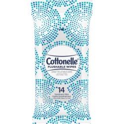 Cottonelle Flushable Wet Wipes, 14 Wipes - 1 ct