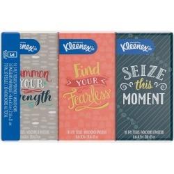 Kleenex Facial Tissues, Go Packs - 3 pk