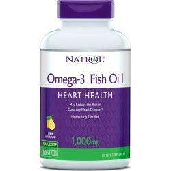 Natrol Omega-3 Fish Oil Softgels, Lemon, 1000mg - 150 ct