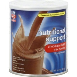Rite Aid Pharmacy Nutritional Support, Chocolate Shake Mix Powder - 14.7 oz