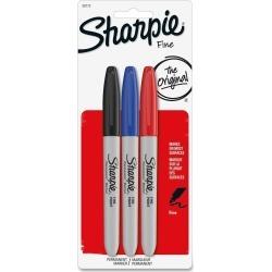 Sharpie Permanent Marker, Fine - 3 ct