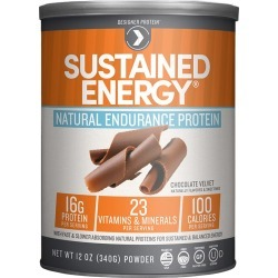 Designer Protein Sustained Energy Natural Endurance Protein, Chocolate Velvet - 12 oz