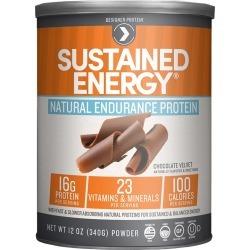 Designer Protein Sustained Energy Natural Endurance Protein, Chocolate Velvet - 12 oz
