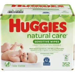 Huggies Natural Care Sensitive Baby Wipes, Fragrance Free - 352 ct