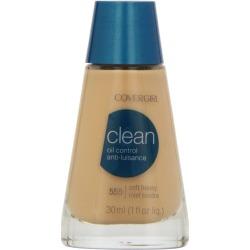CoverGirl Clean Liquid Makeup, Oil Control, Soft Honey 555 - 1 fl oz