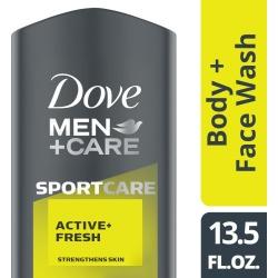 Dove Men+Care SportCare Active + Fresh Body + Face Wash - 13.5 oz
