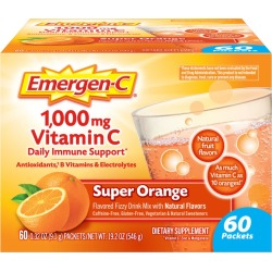 Emergen-C Dietary Supplement Drink Mix, Super Orange, .32 oz packets - 60 ct