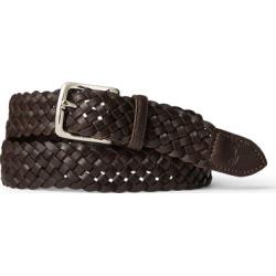 Ralph Lauren Braided Vachetta Leather Belt in Dark Brown - Size 42 found on Bargain Bro from Ralph Lauren for USD $49.40